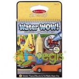 Carnet de colorat Apa Magica- Vehicule 3 ani + Melissa and Doug