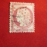 Timbru 80C rosu 1872 Franta stampilat