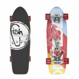 Skateboard  - Cruiser  - Pike/Silver/Transparent Red 26''