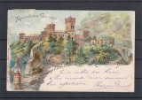 OLTENIA   GORJ  SALUTARI DIN ROMANIA  MANASTIREA  TISMANA  LITOGRAFIE CIRC. 1900