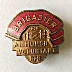 INSIGNA FRUNTAS BRIGADIER AL MUNCII VOLUNTARE 1948 RPR
