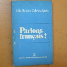 Sa vorbim franceza Bucuresti 1983 Parlons francais Hasdeu Sarbu