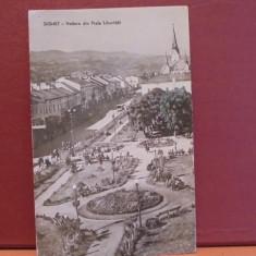 R.P.R. - SIGHET - VEDERE DIN PIATA LIBERTATII - CIRCULATA, TIMBRATA., Fotografie, Sighetu Marmatiei