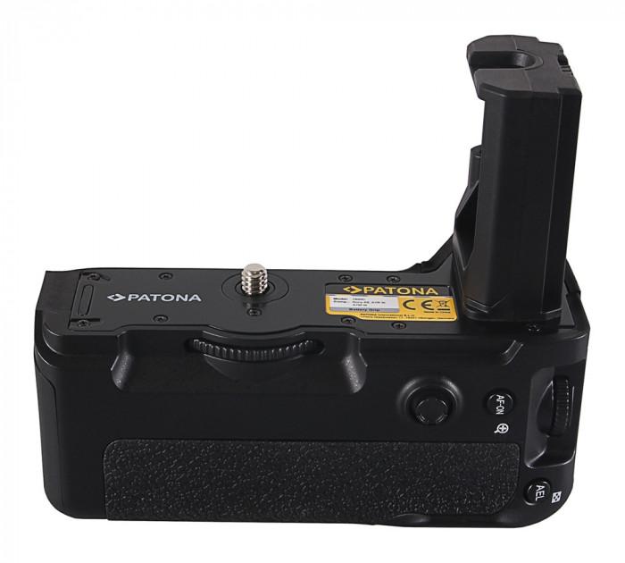 1 PATONA   Grip cu telecomanda tip VG-C3EM Sony Alpha A7RIII A7MIII A9 NP-FZ100