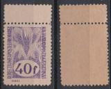 1945 Romania Ardealul de Nord emisiunea Oradea II 40 fil varietate  cu punte MNH, Istorie, Stampilat
