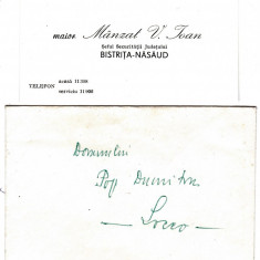 Carte de vizita semnata seful securitatii judet Bistrita-Nasaud 1974