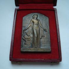 Placheta franceza Melle Ducourneau Institutrice 1955-1977, Europa