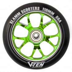 Roata trotineta Slamm V-Ten 110mm verde + Abec 9