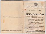 Carnet de asigurat=BIZTOSITASI KONYV 1942 emis la castelul Banffy Miklos Bontida