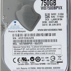 750gb 5400 rpm sata (3) WD Blue WD7500BPVX HDD laptop Healt 100%  (1TB)