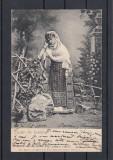 SALUTARI  DIN ROMANIA  PORTUL  NATIONAL ROMAN  CLASICA   CIRCULATA 1904 UPU, Printata