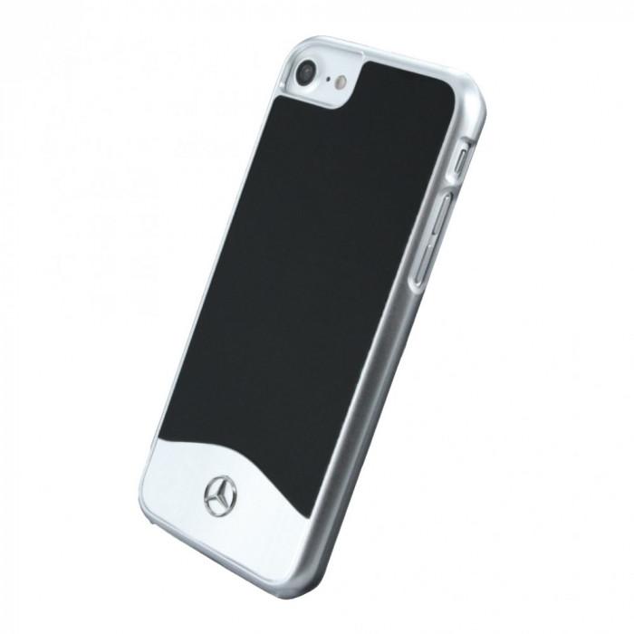 Husa Premium originala Mercedes Benz Wave I Metallic pentru Apple iPhone 7, Black