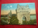 Ilustrata - Podul de la Cernavoda circulat 1927 Ed Teposu, Circulata, Printata