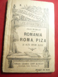Jules Michelet - Romania , Roma , Piza si alte Opere Alese -1909 BPT 8 , 97 pag