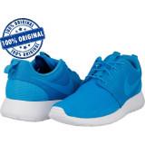 Pantofi sport Nike Rosherun pentru barbati - adidasi originali, 44.5, Albastru, Textil