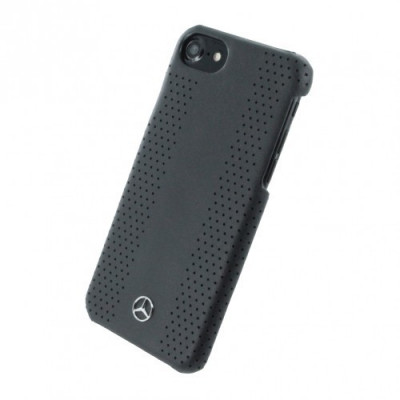 Husa de piele Mercedes Benz Perforated-Stripes II Apple iPhone 7 Black foto