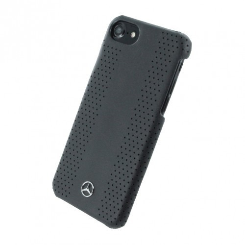 Husa de piele Mercedes Benz Perforated-Stripes II Apple iPhone 7 Black