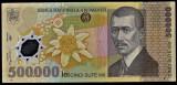 3) Bancnota 500000 ( 500.000 ) Lei 2000  Mugur Isarescu polimer VF+