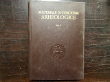 MATERIALE SI CERCETARI ARHEOLOGICE, VOLUMUL.V,1959