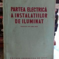 PARTEA ELECTRICA A INSTALATIILOR DE ILUMINAT