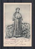 SALUTARI  DIN ROMANIA  PORTUL  NATIONAL ROMAN  CLASICA   CIRCULATA  1905   UPU, Printata