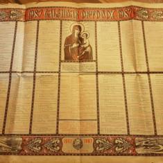 Calendar ortodox de perete din anul 1987-popaganda comunista