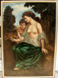 Tablou Tanara cazuta in mrejele lui Eros pictura ulei 75x105cm