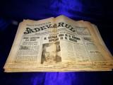 """Lot aprox. 40 numere ziarul """"Adevărul"""". Ziare vechi, Adevarul,Magazin,etc"""