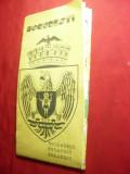 Harta Bucuresti -cu Reclame Comerciale ,dim.= 60 x42,5 cm