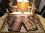 Jeans Roberto Cavalli, cu glitter, mărimea S (34/36), stare impecabilă, Maro, ROBERTO CAVALLI CLASS