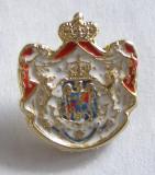 Y421 INSIGNA STEMA REGALA A ROMANIEI MARI, Romania de la 1950