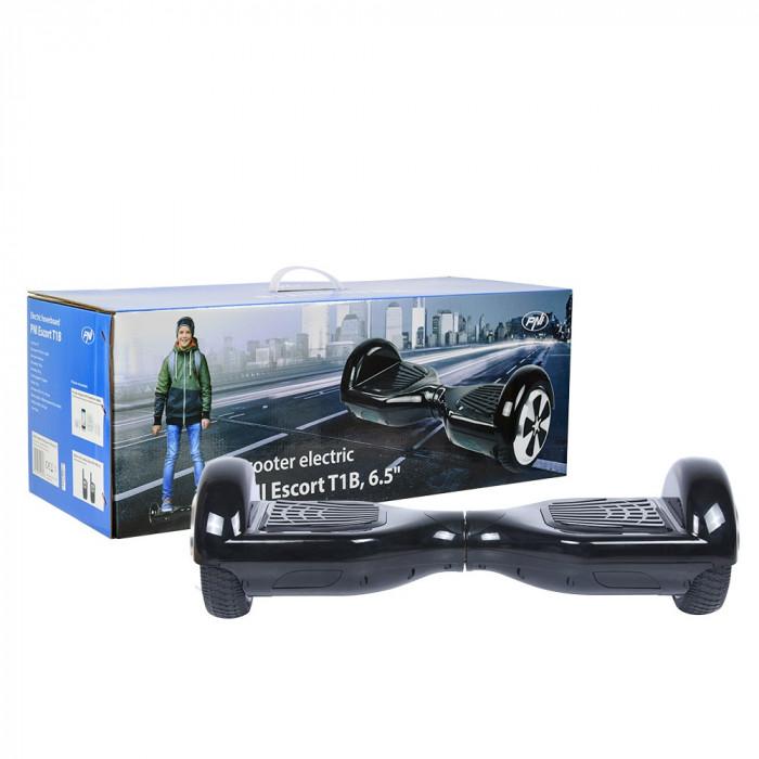 Resigilat : Scooter electric PNI Escort T1B roti 6.5 inch cu LED-uri fata, viteza