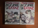 AGONIE SI EXTAZ VOL. I - II DE IRVING STONE , BUCURESTI 1993