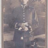 Bnk foto - Militar german Prusia in tinuta de parada m 1910, Alb-Negru, Europa