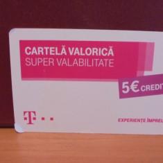TELECOM - CARTELA VALORICA SUPER VALABILITATE DE 5 EURO - FOLOSITA.