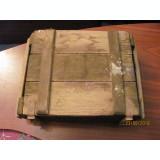 PVM - Lada munitie militara mai veche lemn inchide perfect