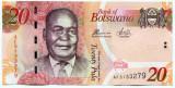 Bancnota Botswana 20 pula 2014 - UNC