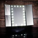 Oglinda cu LED pentru machiaj cu buton tactil