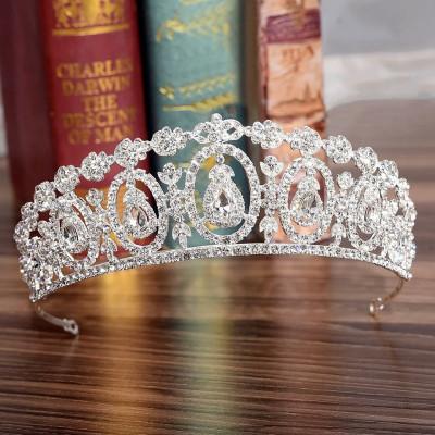 Diadema/tiara/coronita argintie foto