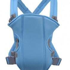Marsupiu multifunctional pentru bebelusi si copii, pana la 15 kg albastru, 0-6 luni