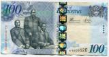 Bancnota Botswana 100 pula 2014, XF+