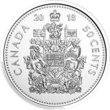 SV * Canada  50  CENTS / HALF DOLLAR  2018  *  STEMA DE STAT     UNC   din fasic, America de Nord, Nichel
