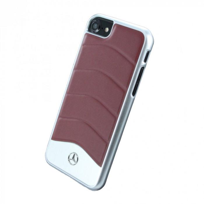 Husa de piele Mercedes Benz - Wave III Apple iPhone 7 Red