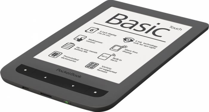 eBook Reader PocketBook Basic Touch, 6 inch, gri