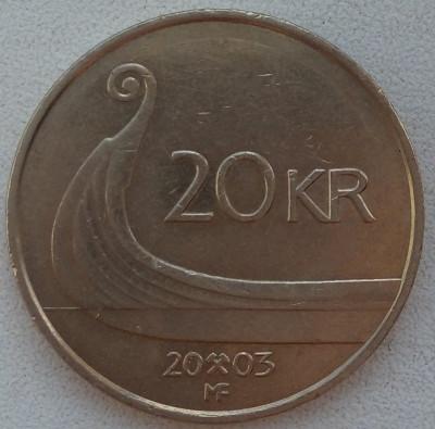 Regatul Norvegiei - 20 Kroner 2003 foto