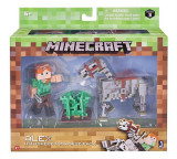 Set Figurine Minecraft Alex Figure With Skeleton Horse
