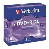 Verbatim DVD+R Dual Layer Verbatim 1 bucata, 8x, 8.5GB