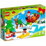 Set de constructie LEGO Duplo Vacanta de Iarna cu Mos Craciun