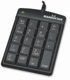 Tastatura Manhattan Numerica, asynchronous, USB, Negru