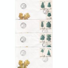 ROMANIA 1994 LP 1343  PRINCIPALELE  SPECII FORESTIERE   SERIE  FDC